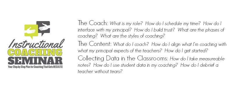 Instructional Coaching Seminar banner Professional Development