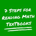 7 Steps for Reading Math Textbooks