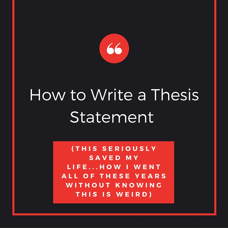 How to make a thesis statement