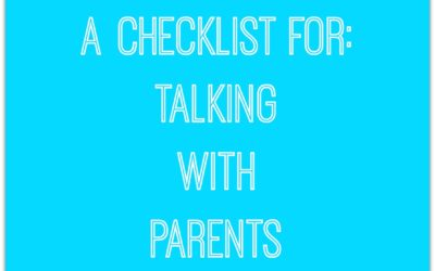 Does a Checklist Really Work? {Talking with Parents}