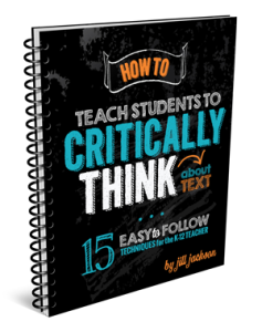 How to Teach Students to Critically Think About Text