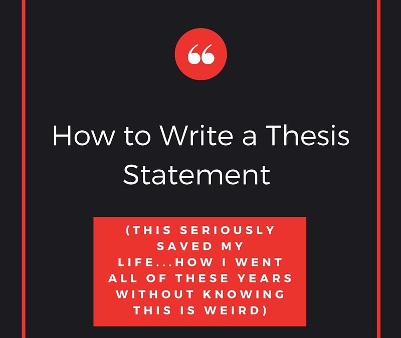 How To Write A Thesis Statement...this SAVED My Life! | Jill Jackson |  Jackson Consulting