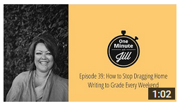 How to Avoid Dragging Writing Home to Grade {1 minute video!}