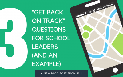 """Get Back On Track"" Questions for school leaders (and an example)"